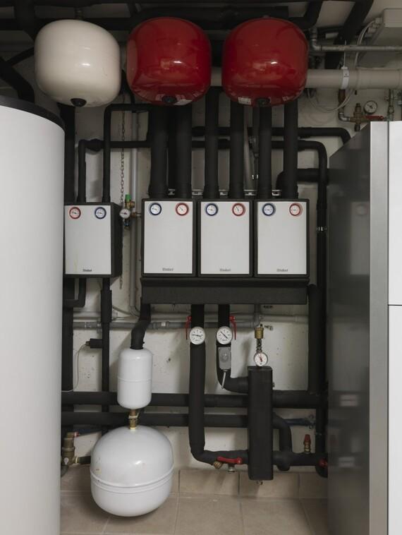 Impianto con sistema ibrido integrato a zeolite Vaillant